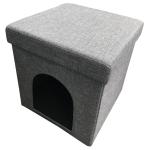 貓咪日常用品-封閉式折疊貓窩貓屋貓房子-深灰色-其他-寵物用品速遞