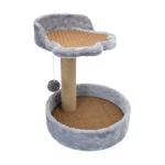 貓爬架 (中型 藤席 圓型底兜 顏色隨機) 貓咪玩具 貓抓板 貓爬架 寵物用品速遞