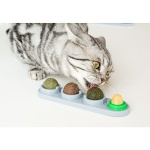 舐舐球 貓咪自嗨貓薄荷旋轉球 一套四顆(顏色隨機) 貓咪玩具 其他 寵物用品速遞