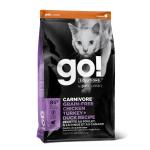 GO! 活力營養系列 無穀物雞肉火雞+鴨肉貓糧配方 CARNIVORE Grain Free Chicken+Turkey+Duck Cat Food Recipe 16lb (1303056) 貓糧 GO 寵物用品速遞