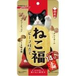日本日清 貓小食 海鮮牛肉蔬菜零食粒 3g 14袋入 (紅) 貓小食 日清 寵物用品速遞