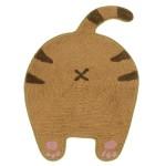 貓奴生活雜貨-日本直送-貓屁屁家居地墊-咖啡色-45x59-貓咪精品-寵物用品速遞
