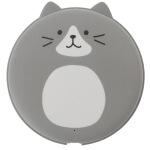 貓奴生活雜貨-日本FukuFukuNyanko-超圓無線叉電器-灰臉貓-Hacchi-一個入-貓咪精品-寵物用品速遞