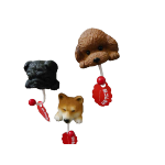 日本たんぽぽ 狗狗大頭磁鐵掛勾 八哥 黑色 一個入 生活用品超級市場 狗狗精品