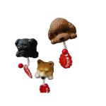 日本たんぽぽ 狗狗大頭磁鐵掛勾 柴犬 黑色 一個入 生活用品超級市場 狗狗精品