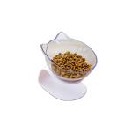 寵物護頸脊糧食碗 透明單碗 貓犬用日常用品 飲食用具 寵物用品速遞