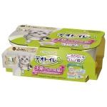 日本unicharm 無蓋雙層套裝 幼貓適用 (連貓砂+尿墊) 貓咪日常用品 貓砂盤 寵物用品速遞