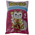 礦物貓砂 富貴貓砂 茉莉花抗菌幼條砂 5kg (B2-A) 貓砂 礦物貓砂 寵物用品速遞