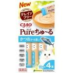 CIAO 貓零食 日本肉泥餐包 Churu Pure 無添加鰹魚木魚肉醬 56g (SC-323) 貓小食 CIAO INABA 貓零食 寵物用品速遞