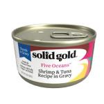 solidgold素力高 無穀物貓罐頭 蝦吞拿魚 3oz (SG511) 貓罐頭 貓濕糧 solidgold 素力高 寵物用品速遞