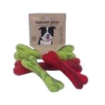 Billipets 新西蘭天然羊毛骨頭玩具 小 紅 (NS-16179 RED) 狗狗 狗狗玩具 寵物用品速遞