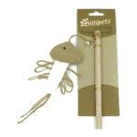 貓咪玩具-Billipets-天然木製貓棒-魚-NS-12213-逗貓棒-寵物用品速遞