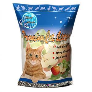 貓咪星球-礦物貓砂-貓咪星球雙倍增量-高級凝結礦物貓砂-蘋果味-10L-礦物貓砂-寵物用品速遞