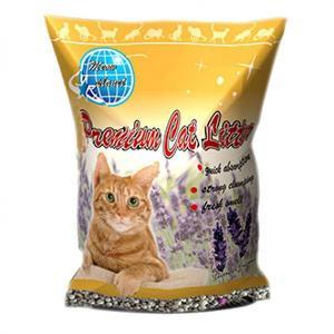 貓咪星球-礦物貓砂-貓咪星球雙倍增量-高級凝結礦物貓砂-薰衣草味-10L-礦物貓砂-寵物用品速遞