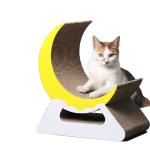 瓦楞紙貓抓板 美喵戰士月亮形 貓咪玩具 貓抓板 貓爬架 寵物用品速遞