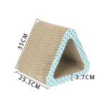 瓦楞紙貓抓板 大三角中空 藍白色紋 貓咪玩具 貓抓板 貓爬架 寵物用品速遞