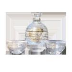 日式手作金箔玻璃酒具套装 一瓶兩杯 酒品配件 Accessories 清酒杯 清酒十四代獺祭專家