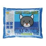 紙貓砂 日本SANMATE Blue Time 抗菌易溶紙貓砂 13.5L 貓砂 紙貓砂 寵物用品速遞