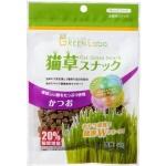 日本GREEN Labo 貓草20%增量 去毛球小食 柴魚味 40g (紫) 貓咪保健用品 貓咪去毛球 寵物用品速遞