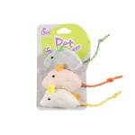 貓咪至愛 毛絨小老鼠 三隻 (款式隨機) 貓咪玩具 其他 寵物用品速遞