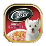 狗狗清貨特價區-Cesar西莎-鋁罐狗罐頭-日系野菜牛肉及雞肉味-100g-10193344-破損品-狗狗-寵物用品速遞