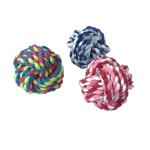 狗狗磨牙棉繩互動訓練玩具 棉繩球 9cm 一個 狗狗 狗狗玩具 寵物用品速遞