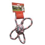 狗狗磨牙棉繩互動訓練玩具 蝴蝶球 紅色 狗狗 狗狗玩具 寵物用品速遞