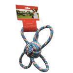 狗狗磨牙棉繩互動訓練玩具 蝴蝶球 藍色 狗狗 狗狗玩具 寵物用品速遞