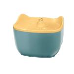 兩隻耳朵 寵物電動自動循環飲水機飲水器 2.5L (黃藍) 貓犬用日常用品 飲食用具 寵物用品速遞