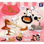 日本直送 貓公仔擺設 貓廚師蛋糕店 一套六隻 生活用品超級市場 貓咪精品