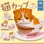 日本直送 貓公仔擺設 TAKARA TOMY 貓CUP 杯中貓 一套六隻 生活用品超級市場 貓咪精品