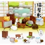 日本直送 貓公仔擺設 貓屋敷 一套六隻 生活用品超級市場 貓咪精品