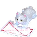 日本直送 貓公仔擺設 抹地的貓 灰白貓 2枚入 生活用品超級市場 貓咪精品