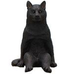 日本直送 狗公仔擺設 閒坐的狗 黑犬 一枚入 生活用品超級市場 狗狗精品