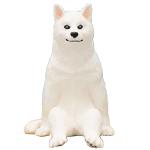 日本直送 狗公仔擺設 閒坐的狗 白犬 一枚入 生活用品超級市場 狗狗精品