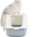肥貓適用 特大全封閉式頂出式防噴濺貓砂盤 (顏色隨機) 貓咪日常用品 貓砂盤 寵物用品速遞