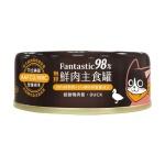 汪喵星球 貓罐頭 貓用98%鮮肉無膠主食罐 低敏鴨肉 80g (FM106) 貓罐頭 貓濕糧 汪喵星球 寵物用品速遞