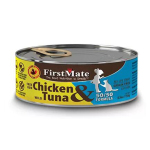 貓罐頭-貓濕糧-FirstMate-無穀物貓罐頭-走地雞肉-野生吞拿魚-Free-Run-Chicken-Wild-Tuna-156g-FirstMate-寵物用品速遞