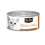 Kit Cat 無穀物肉凍貓罐頭 雞肉+牛 80g (KC-2218) 貓罐頭 貓濕糧 Kit Cat 寵物用品速遞