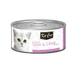 Kit Cat 無穀物肉凍貓罐頭 吞拿魚+蟹 80g (KC-2263) 貓罐頭 貓濕糧 Kit Cat 寵物用品速遞