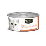 Kit Cat 無穀物肉凍貓罐頭 吞拿魚+三文魚 80g (KC-2270) 貓罐頭 貓濕糧 Kit Cat 寵物用品速遞