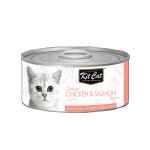 Kit Cat 無穀物貓罐頭 雞+三文魚 80g (KC-2166) 貓罐頭 貓濕糧 Kit Cat 寵物用品速遞