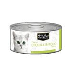 Kit Cat 無穀物貓罐頭 雞+海鮮 80g (KC-2180) 貓罐頭 貓濕糧 Kit Cat 寵物用品速遞
