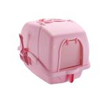 全封閉式防濺除臭貓砂盤 豆腐貓砂適用 粉紅色 貓咪日常用品 貓砂盤 寵物用品速遞