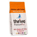 Thrive脆樂芙 無穀物貓糧 鮮火雞肉 Premium Plus 90% Turkey 1.5kg (T_CF_CT) 貓糧 Thrive 脆樂芙 寵物用品速遞