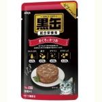 日本AIXIA愛喜雅 黑缶系列 綜合營養啫哩濕糧包 金槍魚+鰹魚 70g (紅) 貓罐頭 貓濕糧 AIXIA 愛喜雅 寵物用品速遞