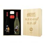 清酒-Sake-佐々木酒造-幪面超人-仮面ライダー1號‧2號-清酒2支-720ml-豬口杯2隻-50周年木盒限量套裝-其他清酒-清酒十四代獺祭專家