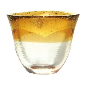 酒品配件-Accessories-日本和がらす温-金箔清酒杯-琥珀-75ml-清酒杯-清酒十四代獺祭專家
