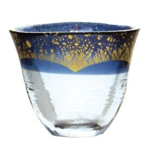 酒品配件-Accessories-日本和がらす温-金箔清酒杯-藍-75ml-清酒杯-清酒十四代獺祭專家