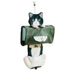 日本FELISIMO 貓咪紙巾盒套 901-黑白貓 生活用品超級市場 貓咪精品